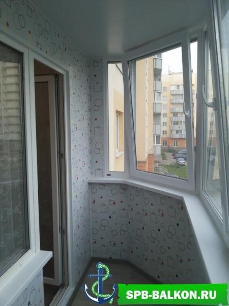 остекление балкона 5,5 м в осиновой роще deceuninck
