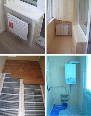 Как сделать отопление на балкон